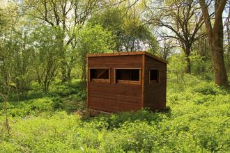 Bird Hide at Tewin Orchard