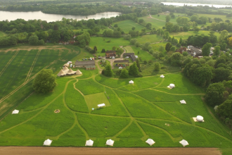 Home Farm Glamping Aerial