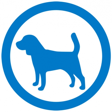 Dog sign - blue