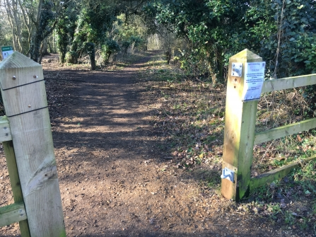 Stolen gates at Waterford Heath Nature Reserve