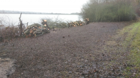 Scrub clearance at Hilfield Park Reservoir