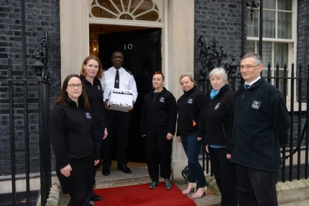 Wildlife Trust CEOs deliver the letter to Downing Street
